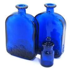 Antique Cobalt Blue Glass Apothecary Scent Bottles