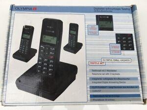 3x Olympia Digitales Schnurloses Telefon + Ladestation Konvolut Set