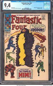 Fantastic Four #67 1967 CGC 9.4 - Stan Lee, Origin and 1st app of Him (Warlock)