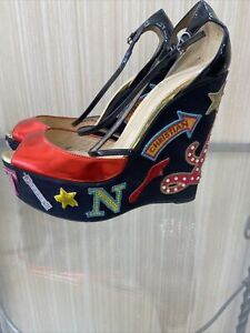 louboutin wedge 38 Used Good Condition