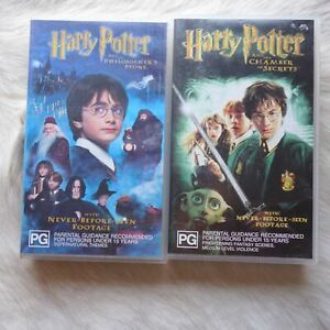 HARRY POTTER 2 Pack VHS Video Tape ADVENTURE Magic ACTION Witches THRILLER Kids