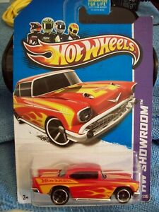 Hot Wheels HW Showroom 1957 Chevy Red Yellow Flames 196/250 X2002-09Chevy