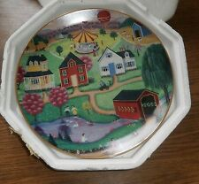 """8"""" Decorative Collector Plate """"Spring Fair"""" - with styro packaging"""
