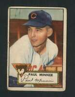 1952 Topps #127 Paul Minner VG/VGEX RC Rookie Cubs 108528