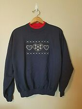 Vintage Mccc Energy Sportswear Sweatshirt Xl Hearts Blue Red Embroidered Casual