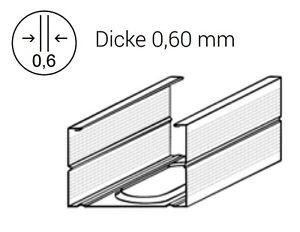 100mm x 2,6 m UW Trenn Wand Profil St/änderwerk Rahmenprofil Trockenbau Metall