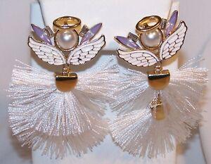 Vintage Clear Diamond Crystal Rhinestone Dangle Drop Earrings Gift for Her Woman Women Ladies Christmas Deco Formal Evening Resale Sale Love