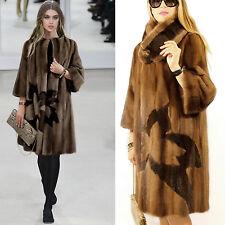 Saga Mink fur coat visón abrigo chaqueta abrigo vison bufanda visone норка 40 42 pastel