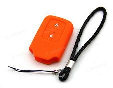 Orange Silicone Case Cover For Honda Fit Odyssey Vezel Remote Smart Key 2 Button