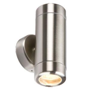 IP65 Outdoor Waterproof Stainless Steel Up Down GU10 Wall Garden Door Light Lamp