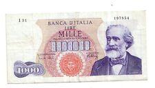 Italia 1000 lire 1965 Verdi BB++  VF++  pick 96d numero serie 197854  rif 2359