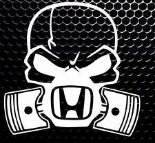 Cráneo Máscara de gas del pistón Ventana de Coche Divertido Jdm Parachoques Vinilo Autoadhesivo con JDM VW