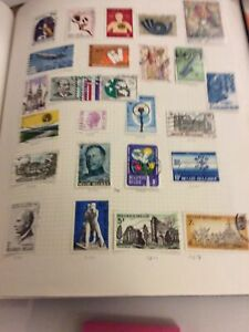 Album Page Of  Lightly Hinged  Stamps Belgium Sheet 17 Years 1972-1974