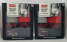 Levi's Boxer Briefs Cotton Stretch Multi color size Medium 8 pack Color may Vary