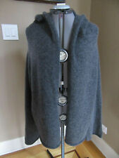 NEW Eileen Fisher Gray Wool Blend Open Cardigan with Hood Size 1X