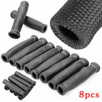 8pcsCar Spark Plug Wire Boot Protector Sleeve Heat Shield Cover Set 2500 Degree
