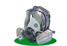 Full Face Facepiece Respirator Painting Spraying Gas Dust Mask +Filter Cartridge