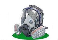 Full Face Facepiece Respirator Painting Spraying Gas Dust Mask +Filter Cartridge