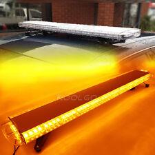 "55"" 104 LED LIGHT BAR ROOF TOP FLASHING WARN EMERGENCY STROBE AMBER 12V/24V 1.4M"