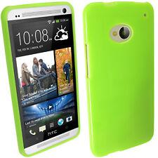 Verde Custodia TPU Gel Case Cover  per HTC One M7 Smartphone Rigida Protezione 1