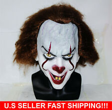 Stephen King's It Mask Pennywise Clown Mask Halloween Cosplay Costume U.S Seller