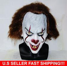 Stephen King's  Mask Pennywise Clown Mask Halloween Cosplay Costume U.S Seller
