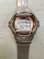 Ladies Casio Baby G  Watch Pinkish beige w/Rose Gold Accents; Working Condition