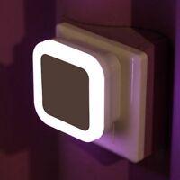 Automatic LED Night Light Plug In And Energy Saving Light Dark Sensor Wall Lamp