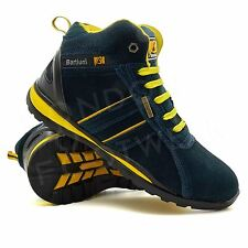 New Mens Safety Ankle Boots Trainers Steel Toe Cap Hiker Work Shoes Size 6-12 UK