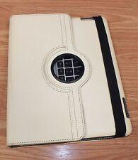 Genuine Targus (AKB34) Cream Color Leather Rotating Bluetooth Keyboard **READ**