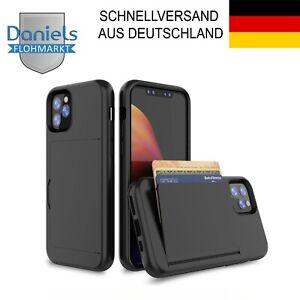 ✅ iPhone 11 / Pro / Max Schutzhülle Kartenhalter Kartenfach Schwarz ✅