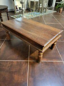 Thakat Sheesham Wooden Coffee Table Ex Showroom Display Clearance Bargain