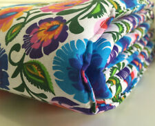 Gooseberry Baby Cot Crib Bumper Cotton Padded Folk Flowers  210 x 30 cm
