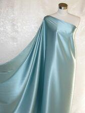 Pure Silk Satin Charmeuse Fabric Pale Blue Per Yard