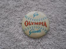 Vintage Go Giants Olympia Baseball Button Pin