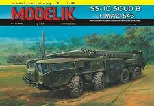 Modelik 04/07 - ss-1c - start plataforma (scud-b) a base del maz-543 con lasecut