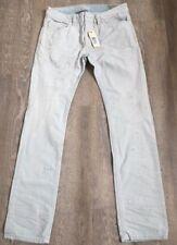 Homme Diesel Thavar Jeans 30 x 32 skinny slim 0075 S effet vieilli Italie Nouveau RRP £ 200