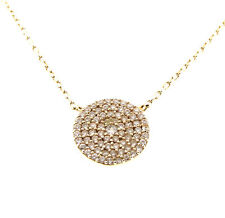 """CZ Pendant in Gold Over 925 Sterling Silver Chain Necklace 11mx16-18"""""""