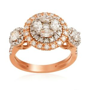 Certified Real 1.4 Ct. Marquise Diamond Wedding Ring 14k Rose Gold Jewelry Gifts
