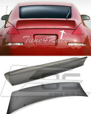 For 03-08 Nissan 350Z Primered Black Ducktail Rear Trunk Spoiler Lid Bunny Style