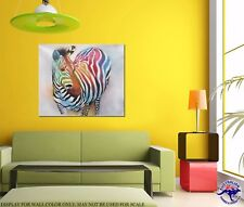 Funky Zebra - Oil Painting - CLEARANCE SALE - $ 1 Auction Bargain