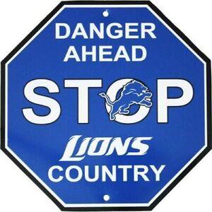 Fremont Die NFL Detroit Lions Stop Sign