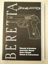 Beretta Px4 Storm Operators Manual - Genuine Oem - New