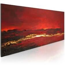 100% Handgemalt – Gemälde / Bilder Leinwand Abstrakt 100x40 0101-8_MK