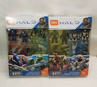 Lot of 2 Halo Mega Construx Spartan-IV Team Battle & ODST Squad Ambush NEW