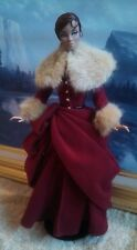 Classical Winter Fur Trim Velvet Gown Fits Fashion Roayalty Poppy Parker No Doll
