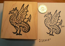 P10 Wyvern-dragon-Rubber Stamp WM