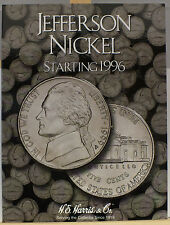 Coin Folder - Jefferson Nickel Set - Starting 1996 - HE Harris Album # 2681