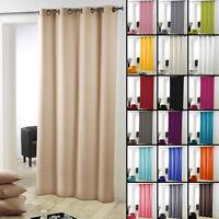 Essentiel Plain Single Curtain Panel with Metal Eyelets - Long 280cm Drop