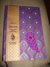 PAPERCHASE JOURNAL WITH HAND MADE PAPER AND APPLIQUE DETAIL FORAL